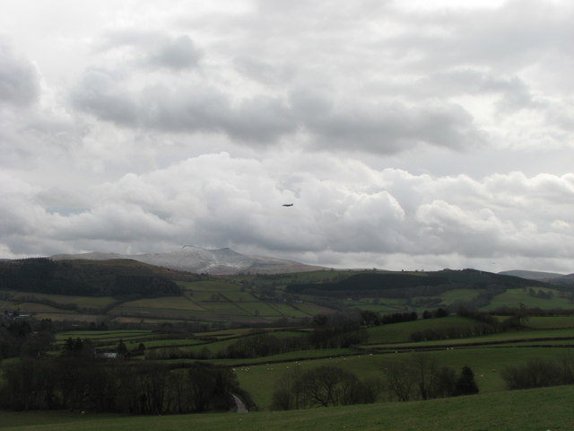 Low flying over the Usk Valley