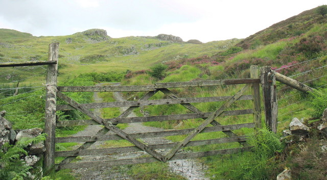 Road gate at the forest/moorland boundary