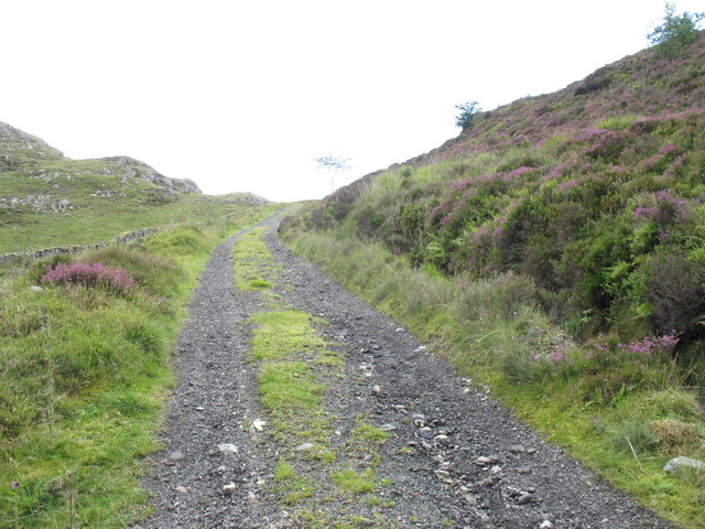 Approaching the summit of Bwlch Goriwaered