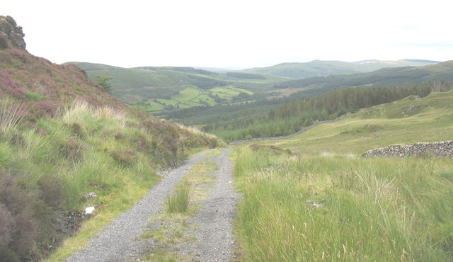 View northwards from Bwlch Goriwaered col into the Afon Wen valley