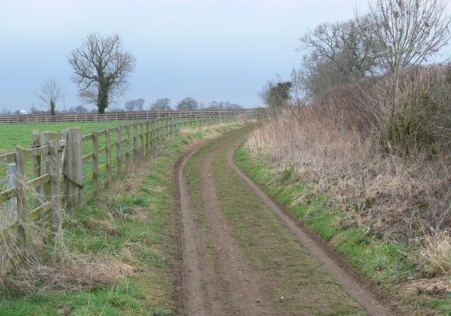 Track north of Gilmorton