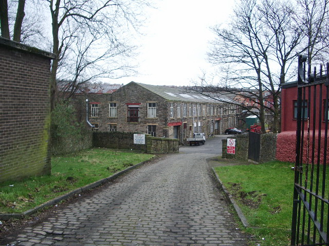 Access road to Wellfield Mill, Blackburn