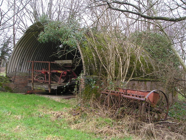 Shed with Farm Implements