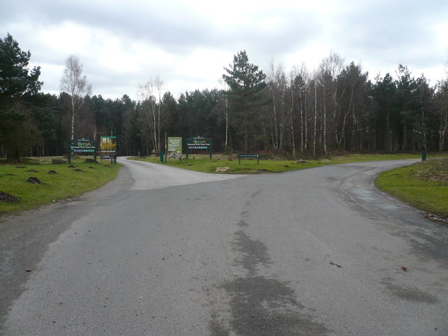 Sherwood Pines Forest Park - Entrance to Car Park