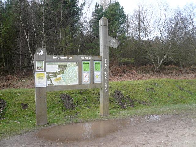 Sherwood Pines Forest Park - Information Board