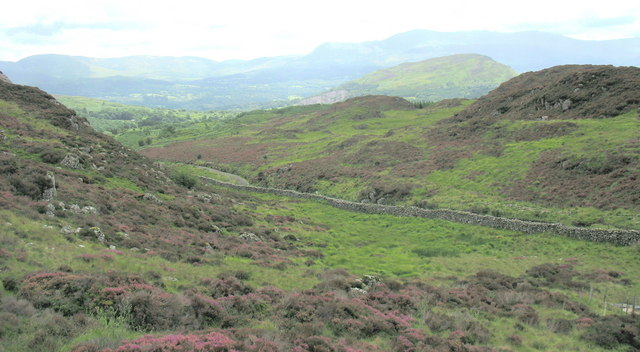 Bwlch Goriwaered from the lower section of the Rhobell Fawr path