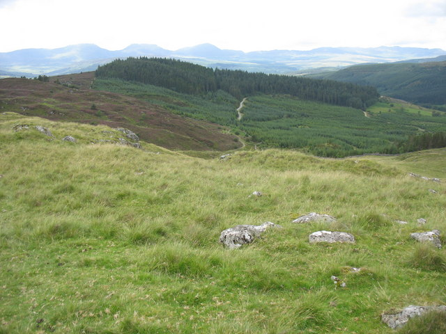 Westward view from the lower slopes of Rhobell Fawr