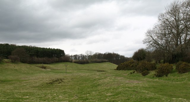Dry valley near Markington