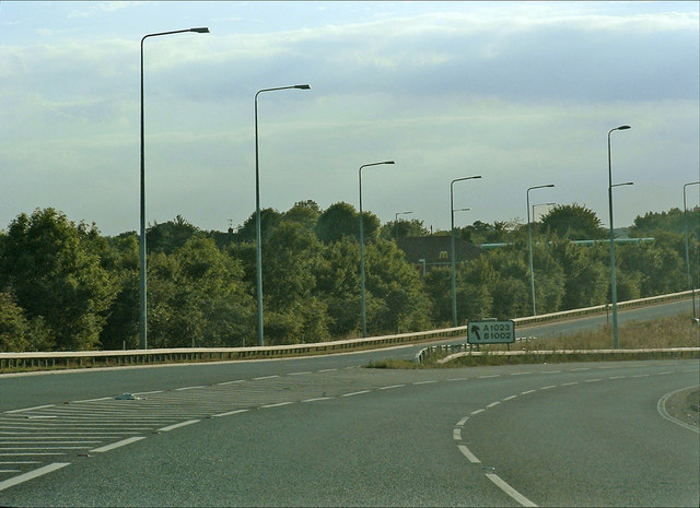 Junction of A12 with A1023 & B1002 Brentwood, Essex