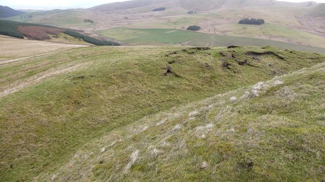 Langlawhill Fort earthworks