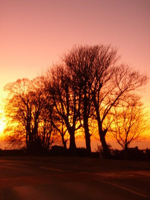 Sunset on Sandyfields Rd, Sedgley, West Mids.