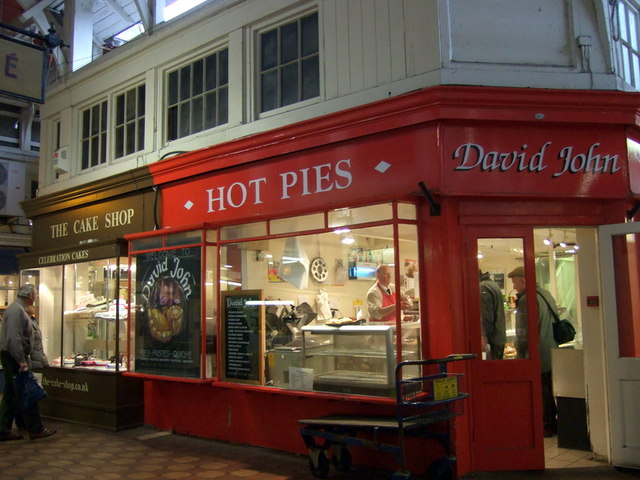 Pies and cakes in the Covered Market