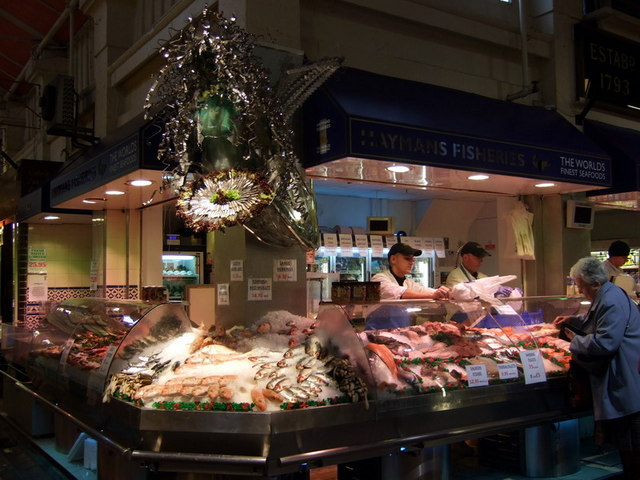 Fishmonger in the Covered Market