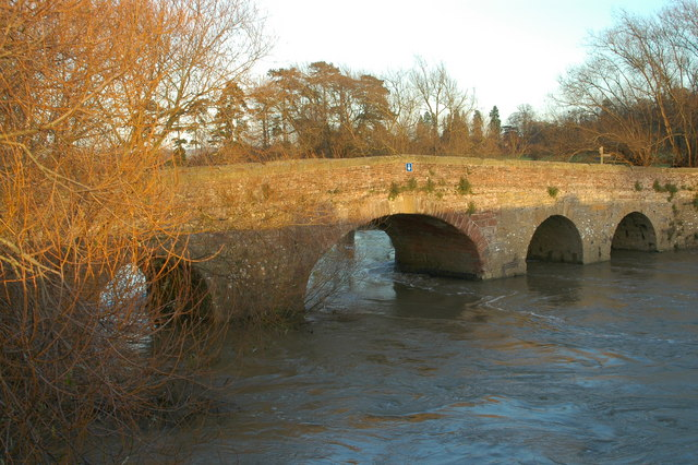 The old bridge at Pershore