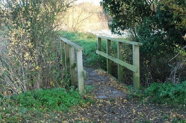 Footbridge on the riverside path