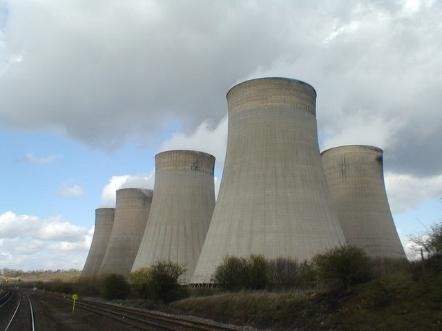 Cooling towers from the railway