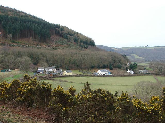 Aberffrwd viewed from Cnwch yr Arian