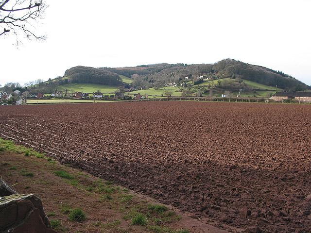 Freshly ploughed land in Lea