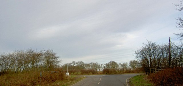 Road junction from the former Beavercotes Colliery