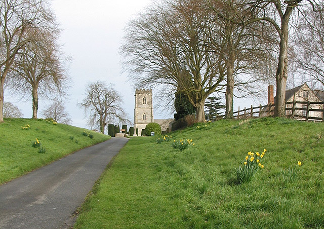 Approaching the Parish Church of St. Giles, Maisemore