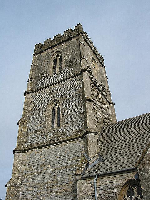 Church tower detail, St. Giles, Maisemore