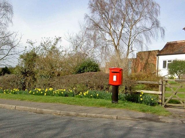 Kneesall village post box