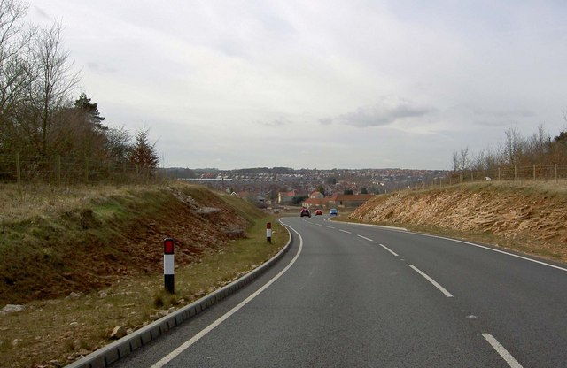 New road from the Creswell Crags visitor centre