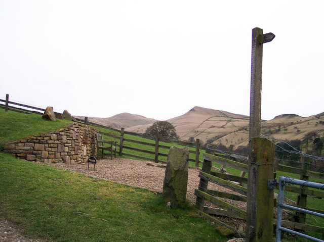 Signpost at Tunstead Clough Farm