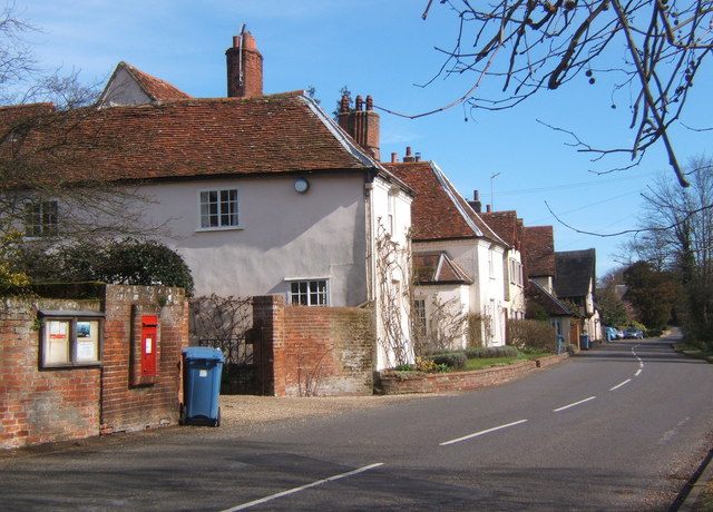 Village street, Chelsworth
