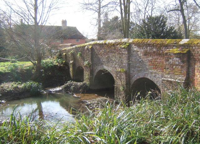 Old bridge at Chelsworth