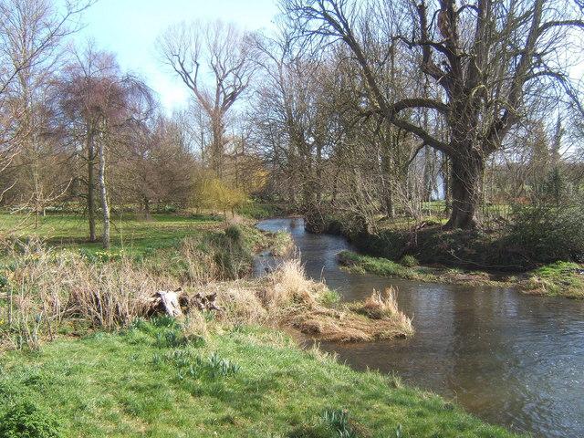 River Brett at Chelsworth, looking east