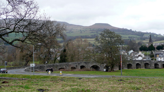 Crickhowell from the south
