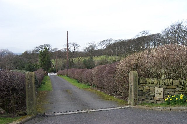 Public Footpath Right of Way to Folly Hall