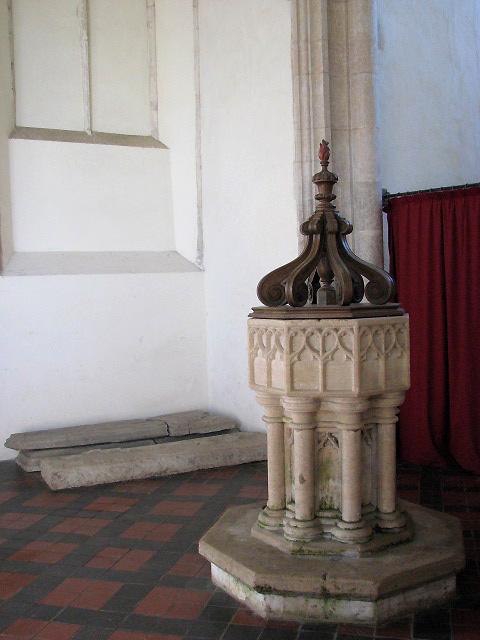 St Margaret's church - baptismal font