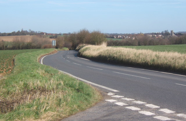 B1115, looking towards Monks Eleigh