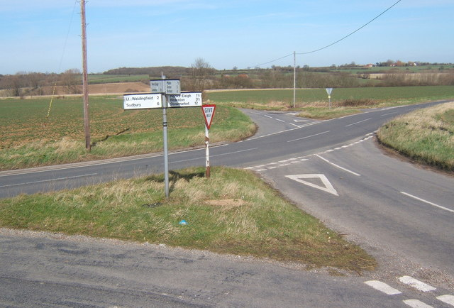 B1115 road junction
