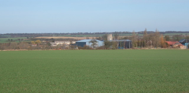 Fields near Milden looking towards Wyncolls Hall Farm