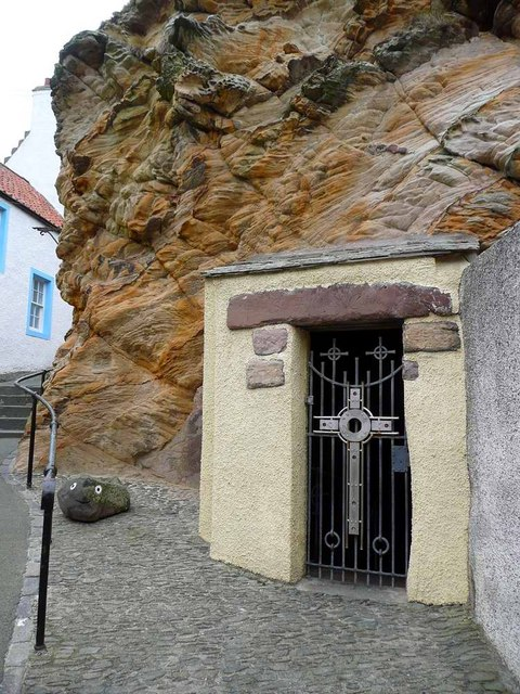 Entrance to St Fillan's cave, Pittenweem