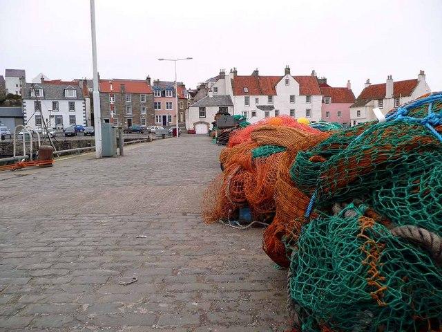 Fishing nets at Pittenweem