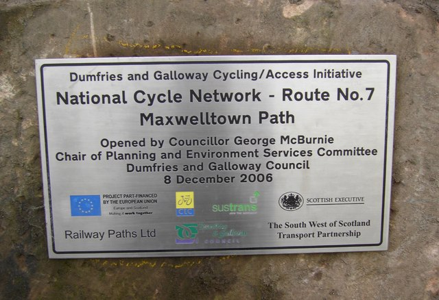 Cycleway Plaque