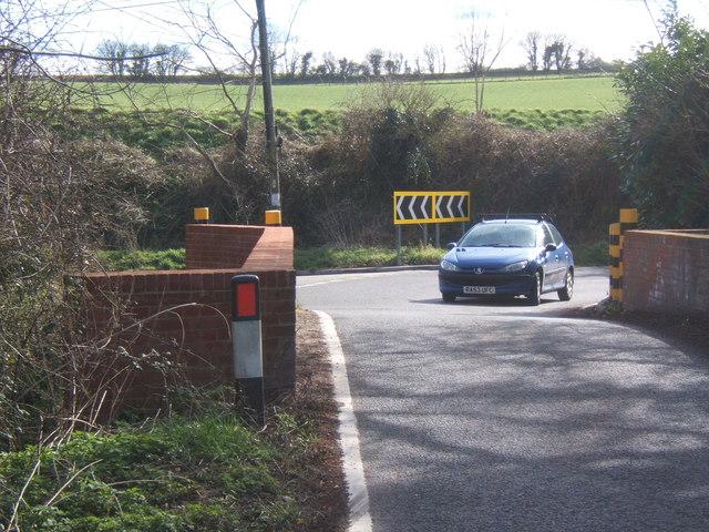 Scripcross Bridge on B1115 west of Monks Eleigh