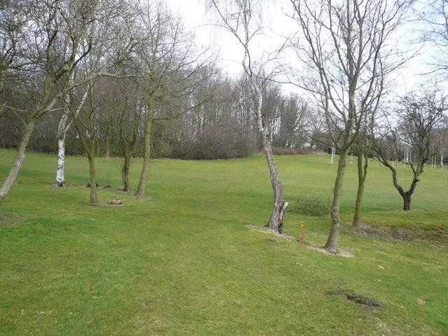 Footpath across Alfreton Golf Course
