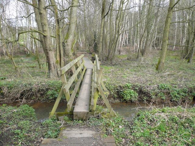 Oakerthorpe Nature Reserve - Footbridge over Stream