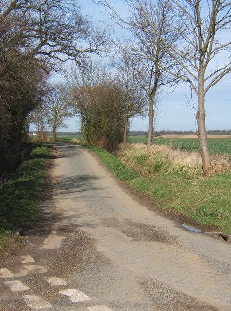 Start of lane towards Kettlebaston