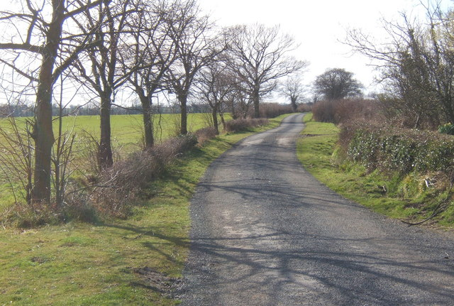Lane west of Monks Eleigh Tye