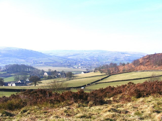 View over Aire Valley from Farnhill Moor