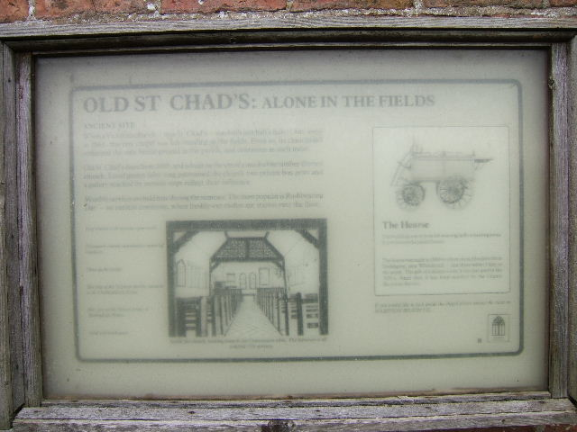 Information Board, Old St. Chad's Church