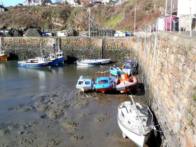 Low tide at Crail Harbour