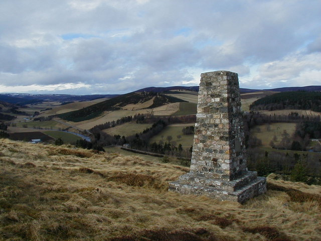 Monument (to Alexander Henry Leith) above Glenkindie