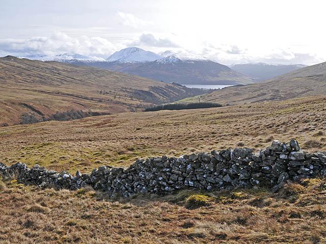 Stone dyke in upper Glen Beich